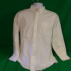 Land's end oxford button down white long sleeve